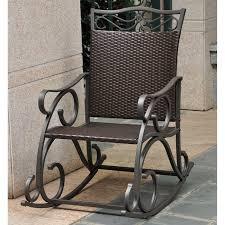 Rocking Chair Outdoor Furniture Outdoor Wicker Rocking Chair With Cushion Patio Furniture Shop