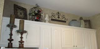 Decorating Above Cabinets In Kitchen  Voluptuous - Kitchen decor above cabinets