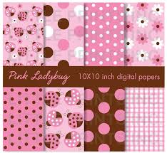 ladybug wrapping paper 169 best digital papers images on digital papers