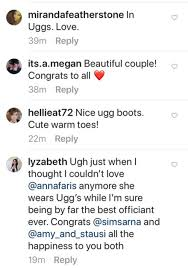 anna faris officiates unquaified cohost u0027s wedding in ugg boots