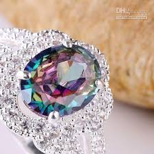 colored gemstone rings images 2018 oval stone color topaz multi cz silver ring size 6 rings jpg