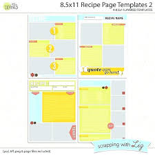 free printable recipe pages recipe page templates latest of blank template free printable