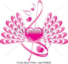 wings note and treble clef eps vector search clip