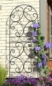 metal garden trellis with butterflies arbors u0026 trellises our