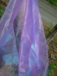 purple lavender hemmed organza fabric sheet 54 x 108
