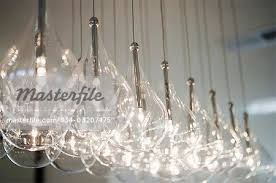 Light Bulb Chandeliers Hanging Light Bulbs Of Contemporary Chandelier Stock Photo