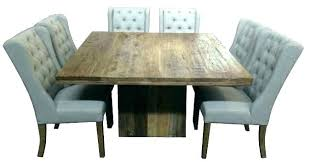 reclaimed wood square dining table square wood dining table home kitchen