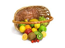basket of fruit tipped basket of fruit stock photos image 2910913