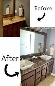 Refurbished Bathroom Vanity Old Builder Grade Bathroom Vanity Makeover Plus Tutorial