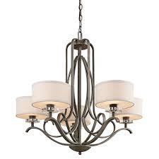 drum shade chandelier
