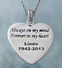 personalized memorial necklace personalized memorial heart necklace 1800flowers