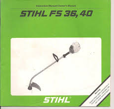 stihl fs36 fs40 instruction maintenance assembly operation owners