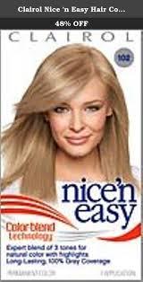 clairol nice u0027n easy hair color natural light ash blonde 102