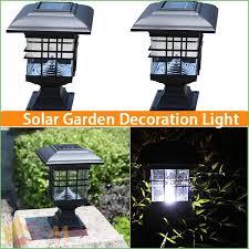 solar powered pillar lights lighting round solar post cap lights solar powered round post cap