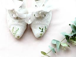 Wedding Shoes 2017 Wedding Colour Trends For 2017 Hand Painted Wedding Shoes By