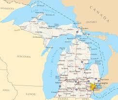 Area 51 Map Michigan Map Blank Political Michigan Map With Cities