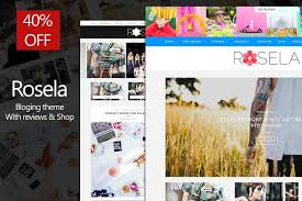 rosela blog magazine with review blog templates free