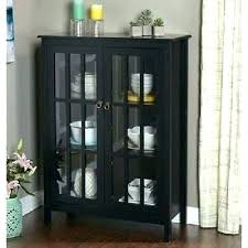 black china cabinet with glass doors  kristensworkshopinfo