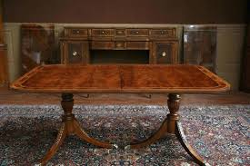 dining room tables pedestal oak dining room table double pedestal