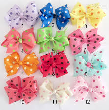 diy baby hair bows 40pcs 12cm diy baby girl handmade dot bow can be equipped with
