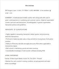 best solutions of supermarket cashier resume sample for job