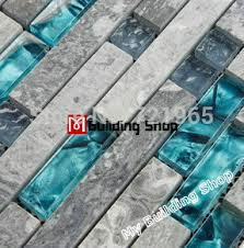 Glass Tile Backsplash Grey And Teal Kitchen Bathroom - Teal glass tile backsplash
