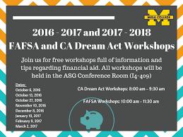 FA WORKSHOPS San Diego Mesa College