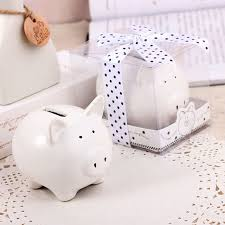 piggy bank favors pig storage tanks 80pcs lot ceramic piggy bank in gift box with