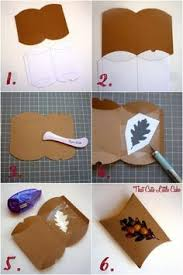 thanksgiving favor box diy pillow box thanksgiving and leaves