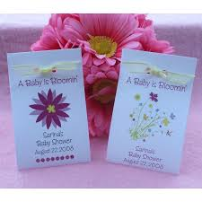 seed favors wildflower seed favors a baby is bloomin set of 4