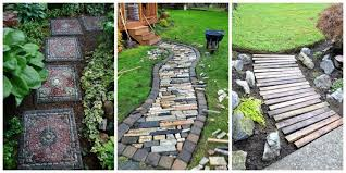 Backyard Pathway Ideas 10 Diy Garden Path Ideas How To Make A Garden Walkway
