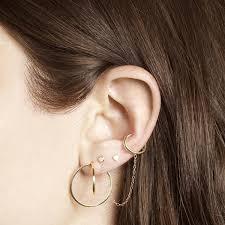 second ear piercing earrings second teeny heart earring and strand