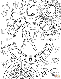 aries zodiac sign coloring page free printable coloring pages
