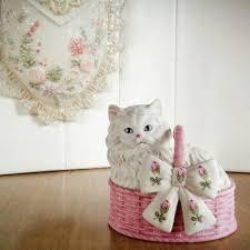 shabby chic cat ring holder images Shop vintage cat figurine on wanelo jpg