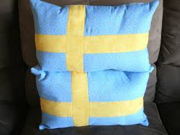 Sweedish Flag The Domestic Groove Swedish Flag Pillows For Mother U0027s Day