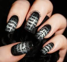 gothic text nail art the adorned claw