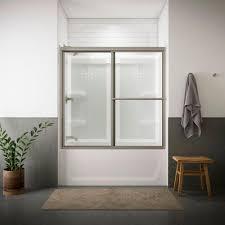 Bathtub Doors Home Depot by Sterling Deluxe 59 3 8 In X 56 1 4 In Framed Sliding Bathtub