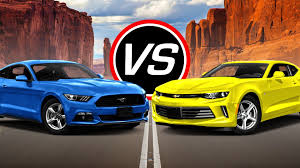 ford mustang chevy camaro 2016 ford mustang ecoboost i4 vs chevy camaro lt spec comparison
