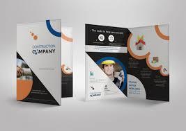one sided brochure template single fold brochures fieldstation co