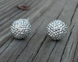 pave earrings etsy
