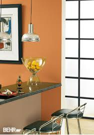 paired with behr paint in raffla ribbon amiable orange adds a