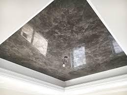 Bedroom Wall Materials Master Bedroom Ceiling Finished In Venetian Plaster Venetian