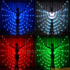 Light Up Costumes Rgb Color Change Led Isis Wings Belly Dance Hafla Club Wear Light
