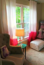 Ombre Window Curtains Diy Dip Dyed Ombre Window Panel Curtains