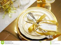 New Year Table Decorations by White And Gold Happy New Year Elegant Fine Dining Table Place