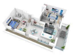 Small Bungalow by 25 More 2 Bedroom 3d Floor Plans