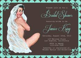 retro pin up lingerie party invitation bridal shower