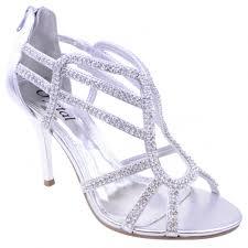 belle silver diamante sandals parisia fashion
