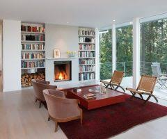 marvelous building bookshelves around fireplace with wall art sconces