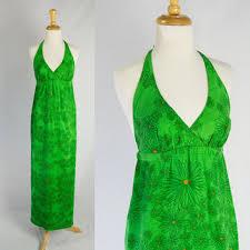 vintage dress 70 s slinky best 70s halter dress products on wanelo